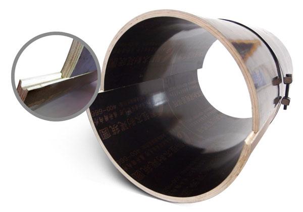 木圆柱模板凹凸槽接口