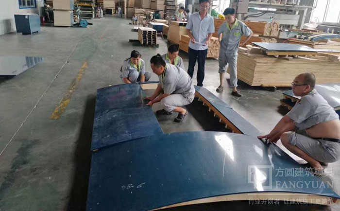 木制圆模板重量轻