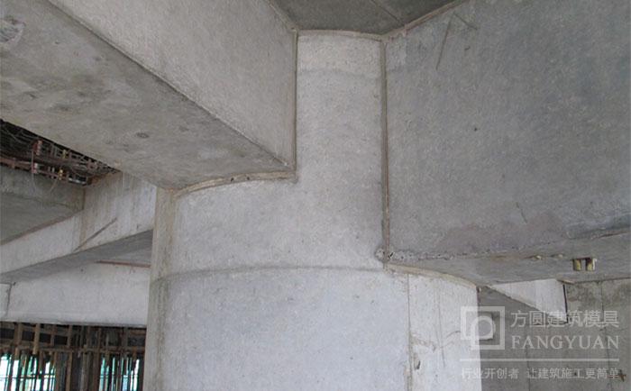 建筑圆柱模具脱模清水效果