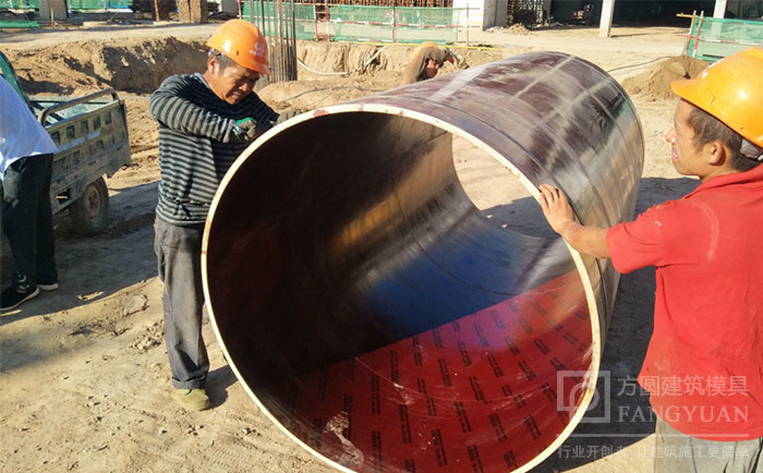 【外贸】木制圆柱模板施工视频讲解