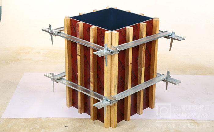 方圆扣加固方柱模板效果