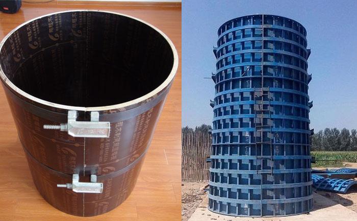 建筑圆模板