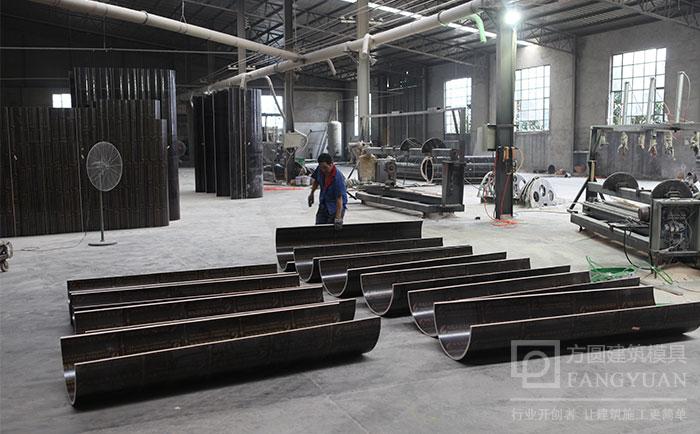 建筑圆模板生产车间