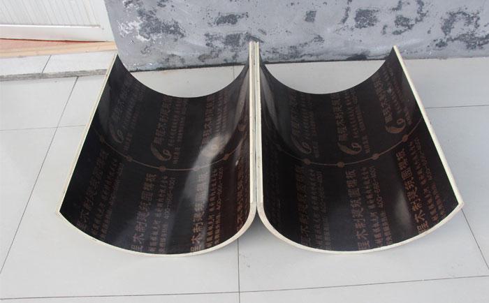 木制圆柱模板双面热压覆塑