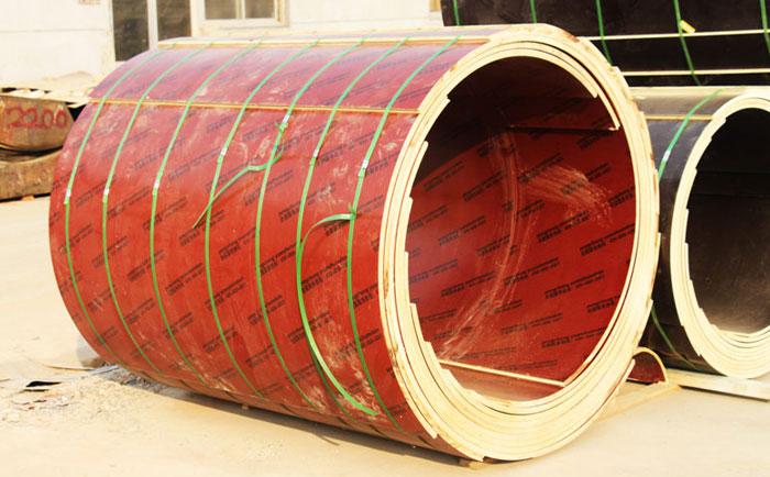 支模用圆柱定型木模板