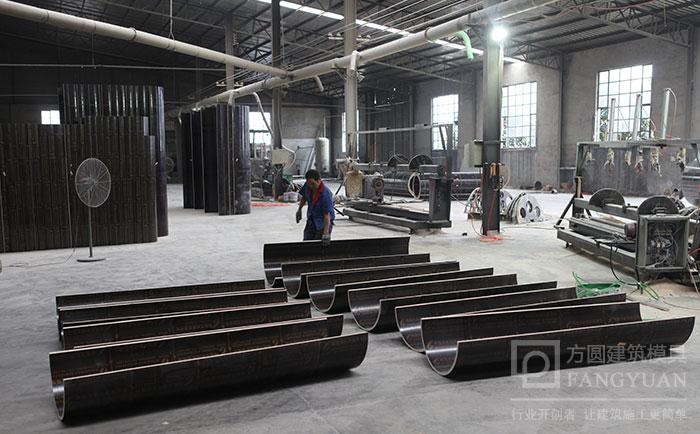 定型圆柱木模板加工制作车间