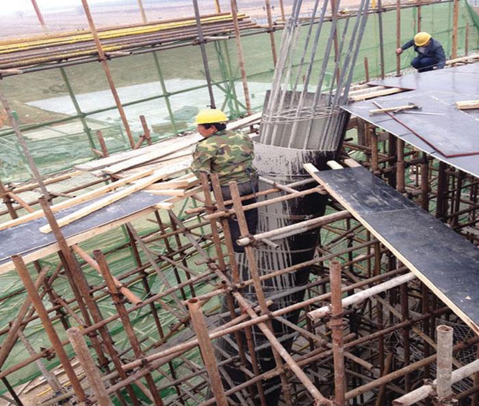 支模成型的混凝土浇筑施工