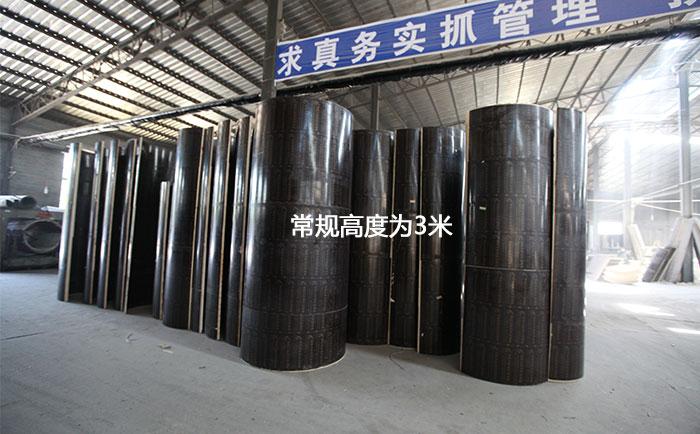 木制圆柱模板常规高度为3米