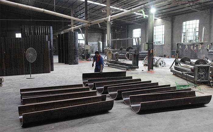 木制圆柱子模板生产车间