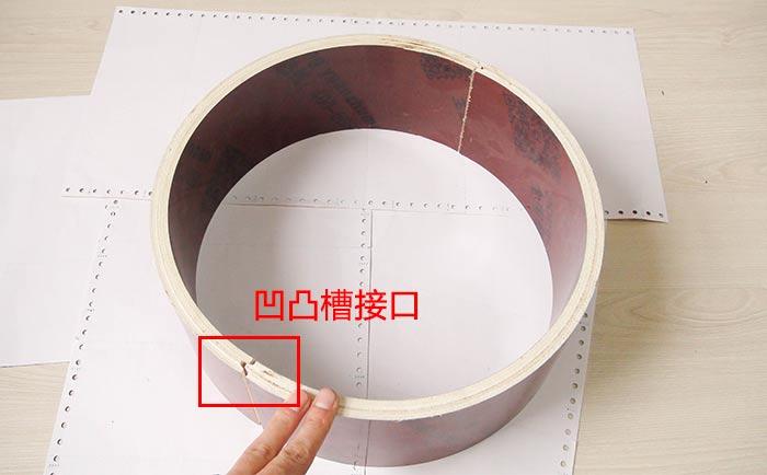定型圆柱木模板凹凸槽接口