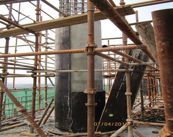 水泥柱子脱模成型