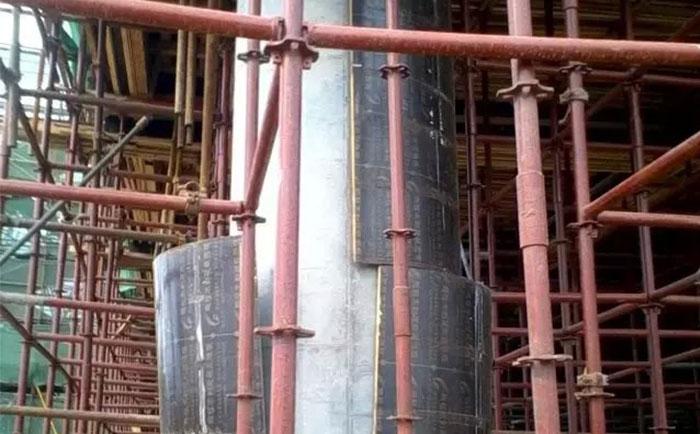 圆柱木模板膨胀拆模