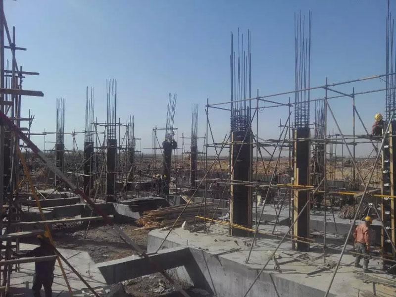 建筑木圆模板图片汇总 产品图及工地施工现场图