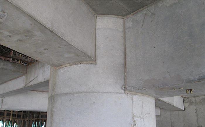 圆形桥梁墩柱脱模成型