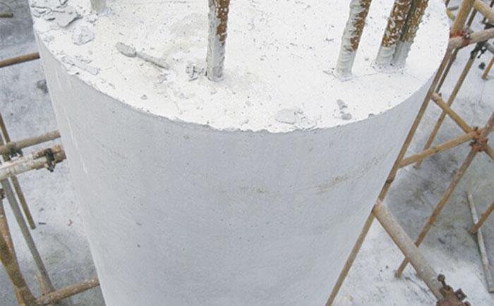 木圆柱模板脱模清水效果