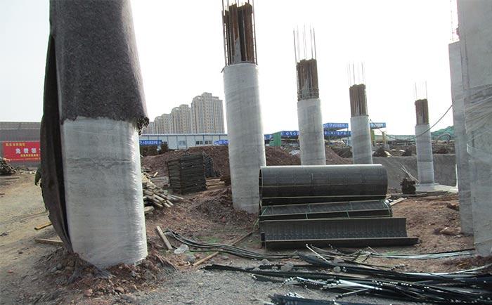 清水混凝土圆柱体效果
