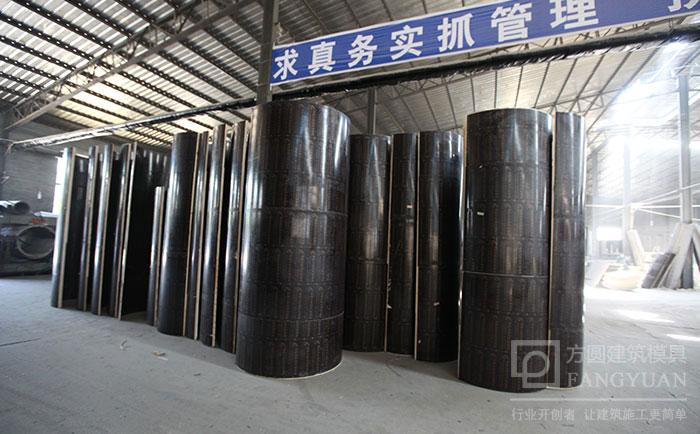 圆形柱子模具默认高度为3米