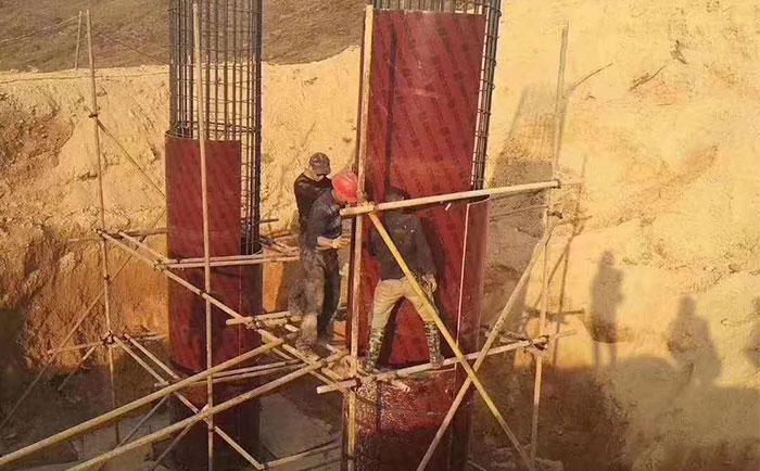 安徽圆柱模板工地施工现场
