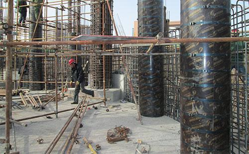 混凝土圆柱子模板工地施工