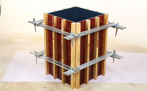 方柱模板加固效果图