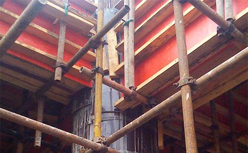 圆柱子木模板用于桥梁墩柱支模