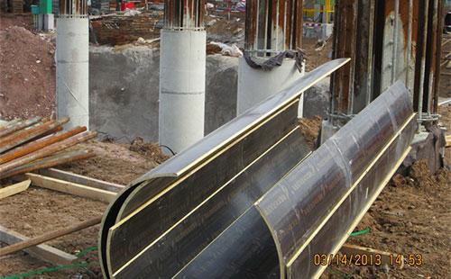 圆柱定型模板工地施工