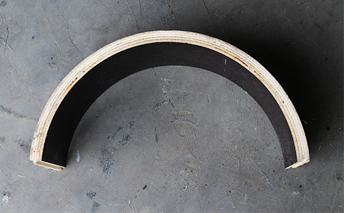 圆柱木模板质地坚固