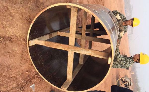 圆形检查井木模板施工快速