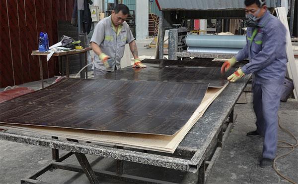 木质圆形模板覆面